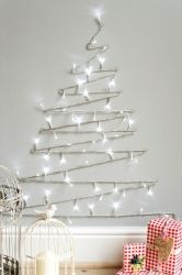 Simple ways to make your home a little more festive - Diy christmas tree on wall ...