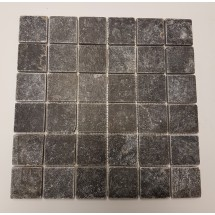 Black Tumbled Marble Mosaic