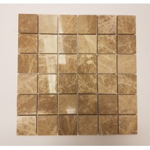 Light Emperador Polished Marble Mosaic