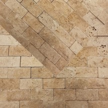 Classic Light Travertine Splitface Mosaic