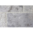 Silver Brushed & Chipped Edge Travertine
