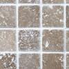 Noce Tumbled Travertine Mosaic sample