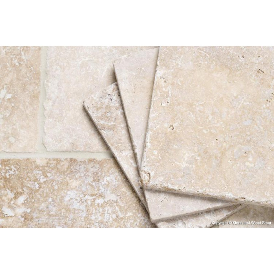 Rustic Tumbled Unfilled Travertine Travertine Floor Tiles Uk