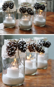 Jar candles.