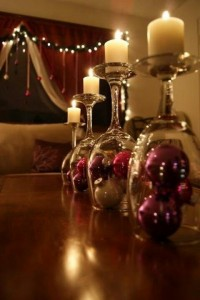 Wine Glass Candles.