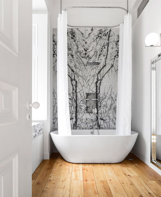Marble Contemporary Bathroom