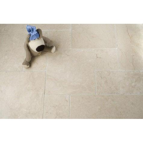 Botticino Tumbled Marble stone floor tile