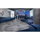 Lamborghini Le Mans Light Grey Bubbled  Matt Porcelain Tile