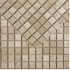 Classic Light Tumbled & Unfilled Travertine Mosaic Sample