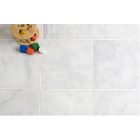 Bianco Carrera Polished Marble stone floor tile