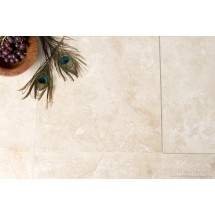 Ivory Honed & Filled Travertine