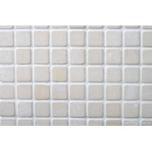 White Tumbled Limestone Mosaic 23 x 23