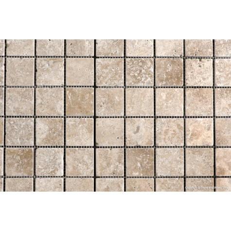 Noce Tumbled Travertine Mosaic