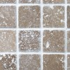 Noce Tumbled Travertine Mosaic sample