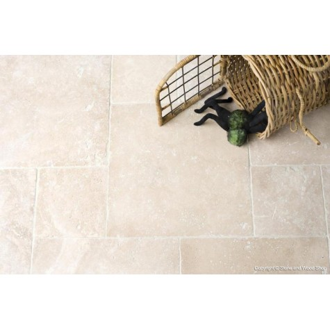 Classic Light Tumbled & Unfilled Travertine